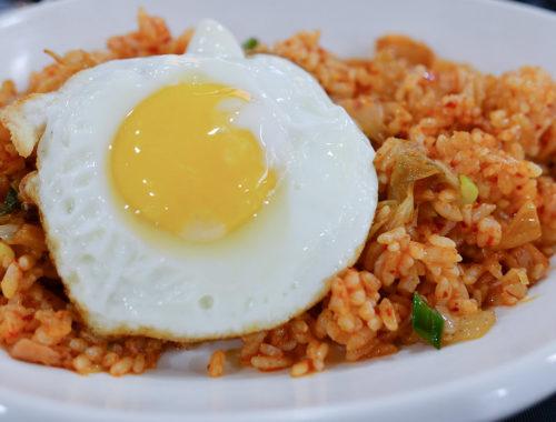 Kimchi bokkeumbap oeuf