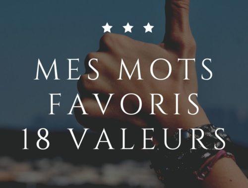 mes mots favoris 18 valeurs